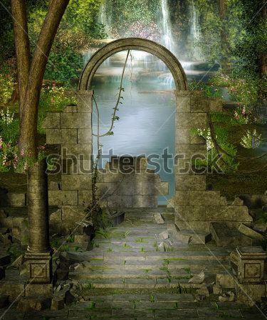 Руины в джунглях