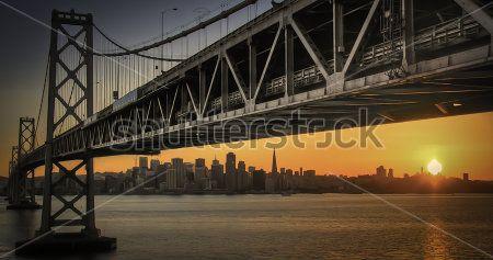 мост из бухты Окленд