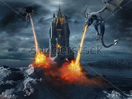 Драконы атакуют замок