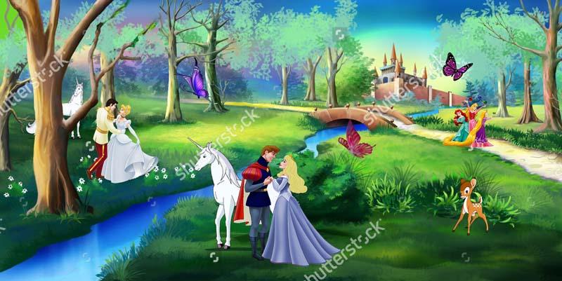 Принцесы Диснея в лесу