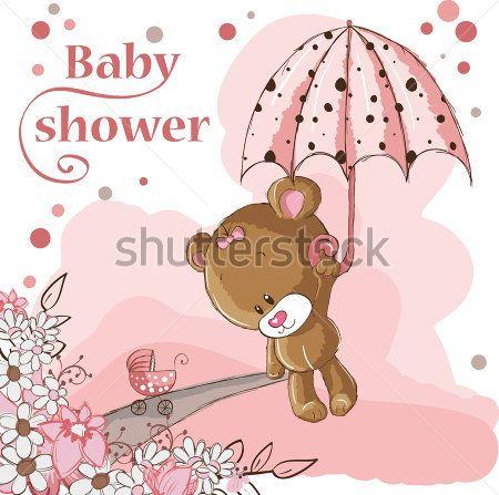 Мишка с зонтом