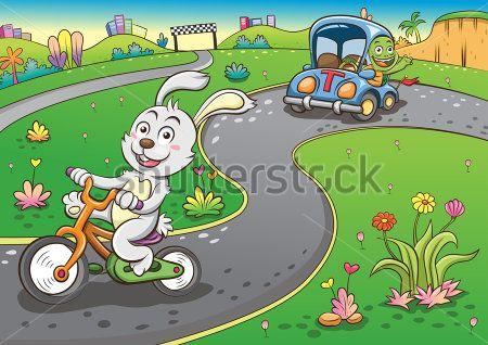 Заяц на гонках