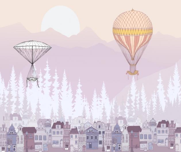 Воздушные шары и домики