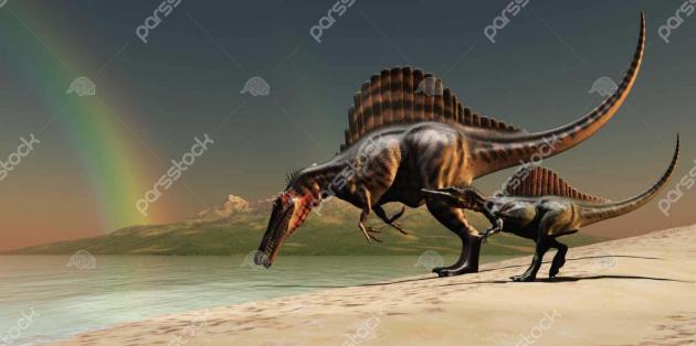 Динозавр на берегу