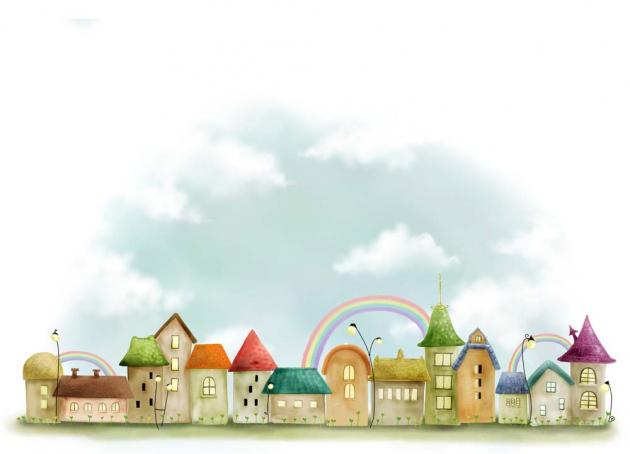 Домики с радугой