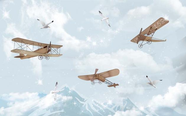 Самолеты над горами