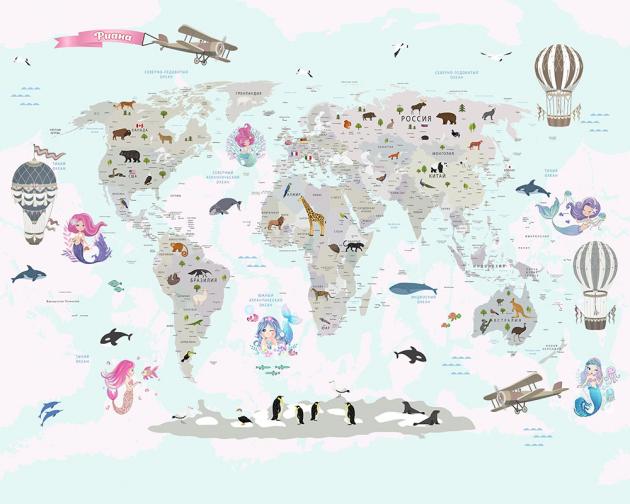 Карта с русалочками