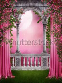 Картины Арка в цветах