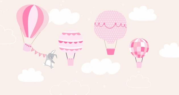 Воздушные шары и зайка