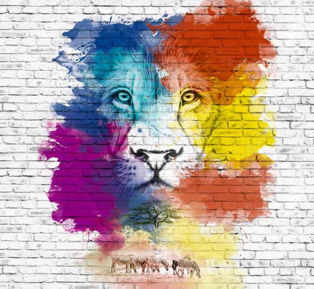 Лев на стене