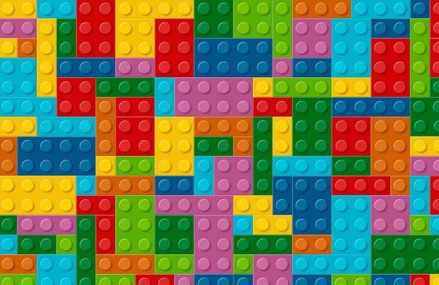 Лего разноцветный