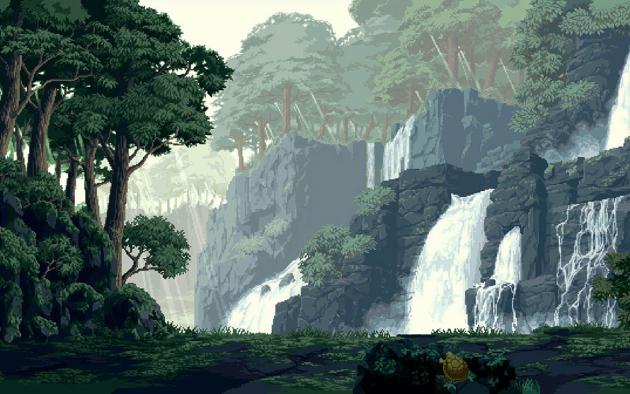 Водопад под Майнкрафт