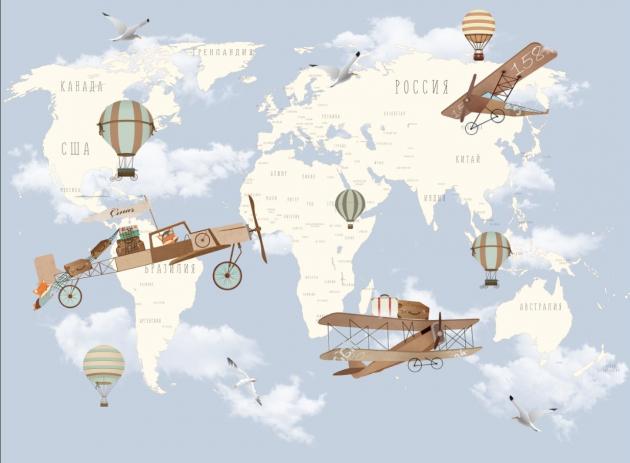 Карта с самолетами