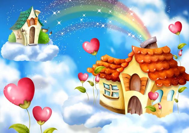 Домик с радугой