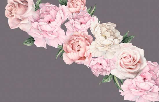 Пионы с розами