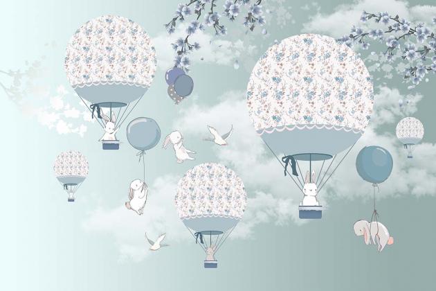Зайцы на воздушных шарах