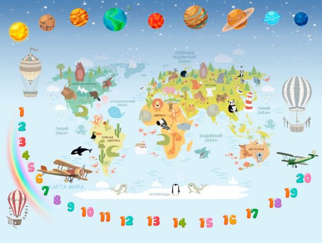 Карта розвивающая