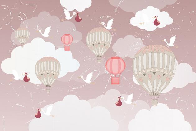 Аисты с воздушными шарами