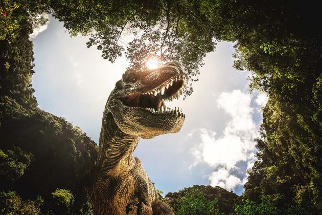 Динозавр в лесу