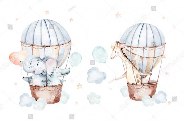 Акварельные воздушные шары
