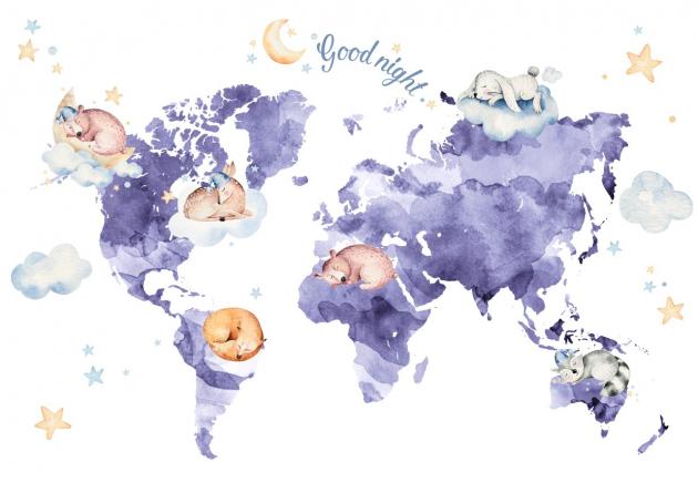 Фиолетовая карта мира