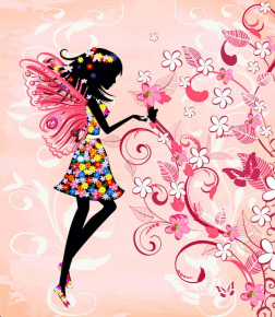 Картины Фея с бабочками