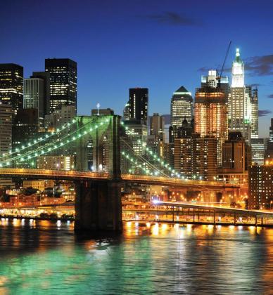 Ночной Нью-Йорк 240х260 Глянец