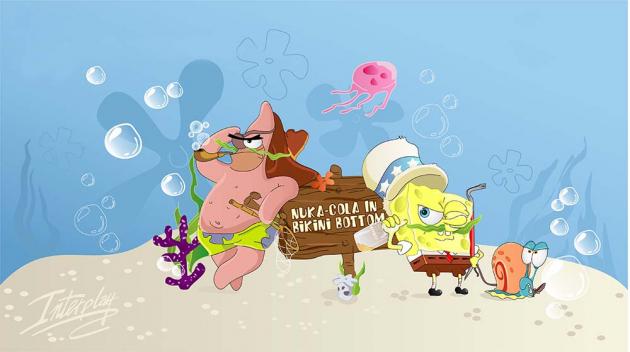 Спанч боб под водой