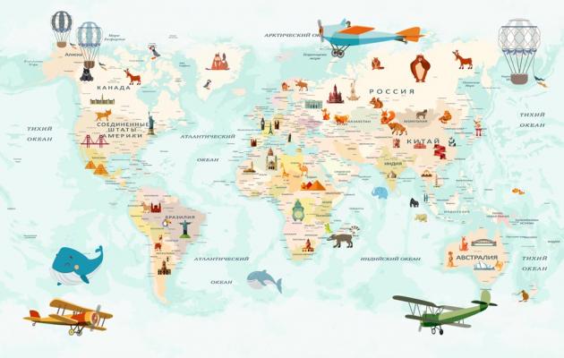 Карта мира для мальчиков