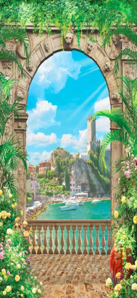 Фреска с видом на море 120х260 Сатин