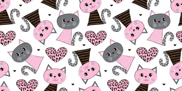 Розовые котики