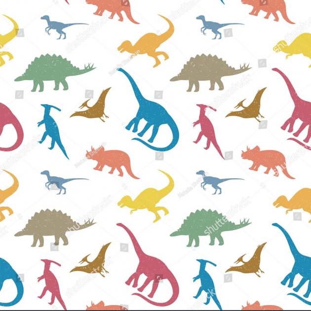 Разноцветные динозаврики