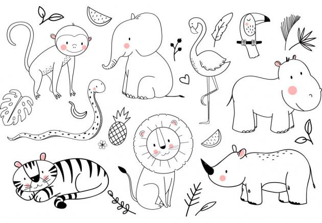 Нарисованные животные