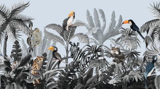 Тропические птицы и животные