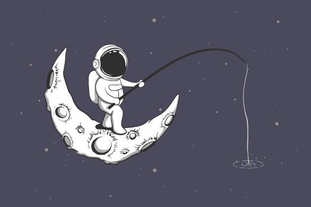 Рыбалка в космосе