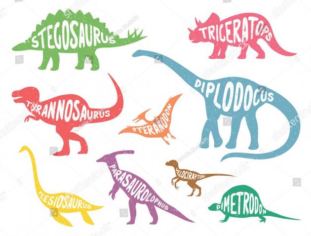 Разноцветные динозавры