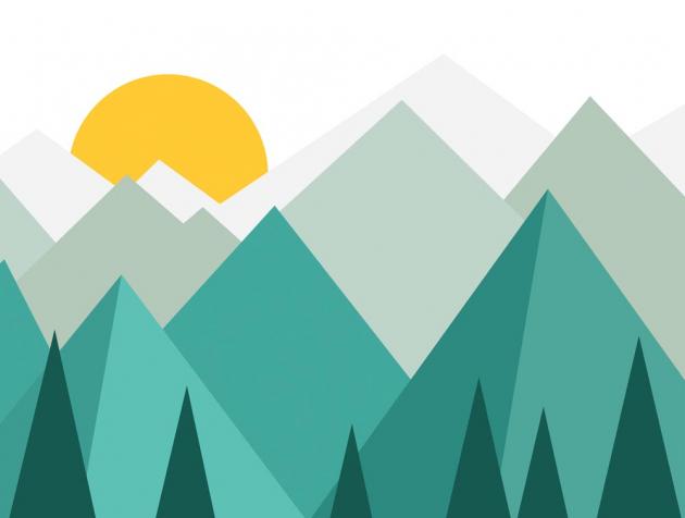 Солнце в горах