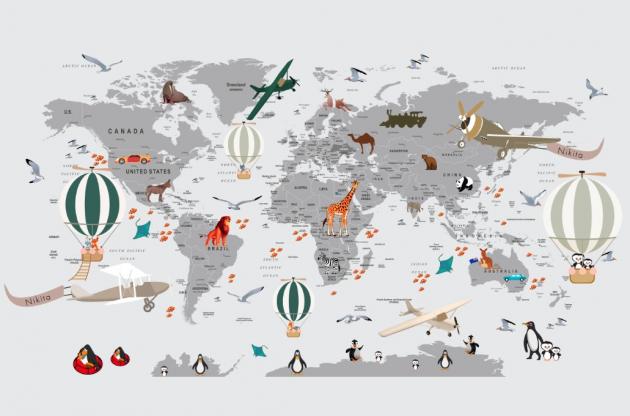 Именная карта мира