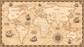 Картины Винтажная карта