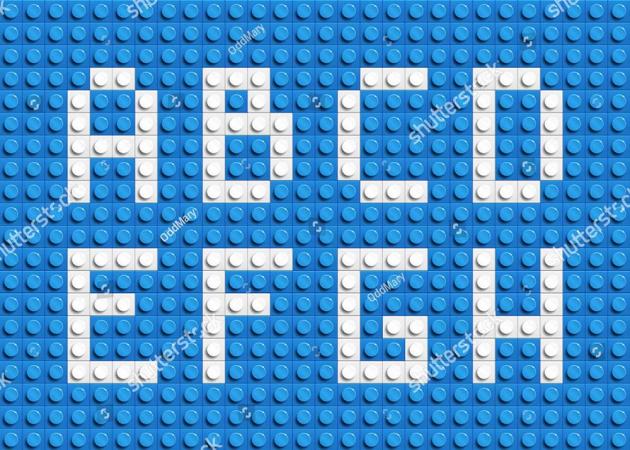 Алфавит на лего