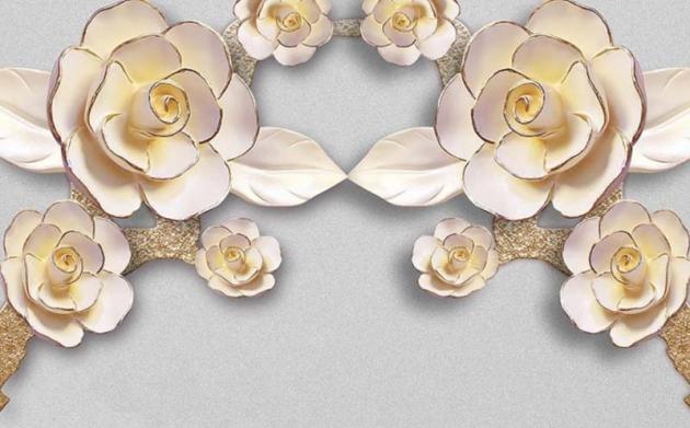 Цветы барельеф