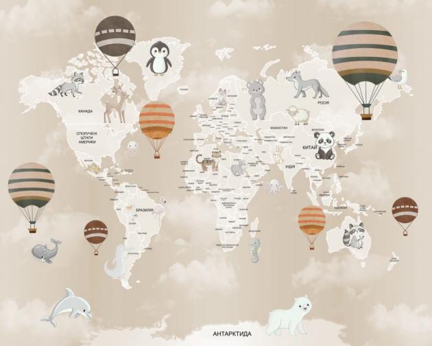Карта с шарами