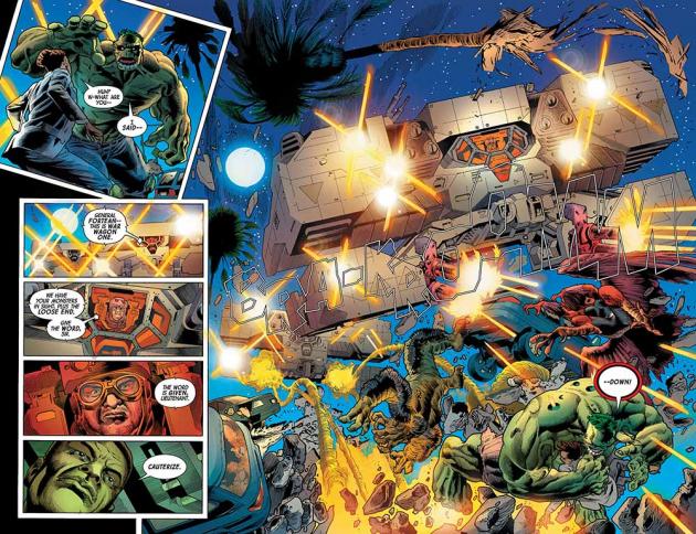 Комикс с супергероями