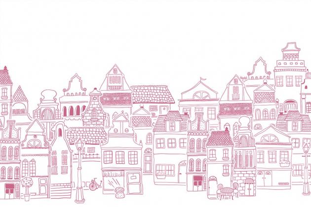 Фиолетовые домики