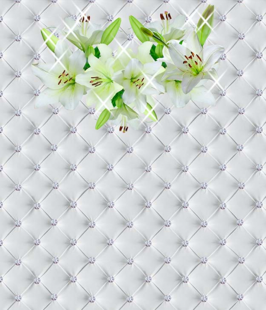 Лилии на ткани