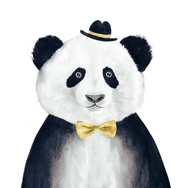 Панда в шляпке