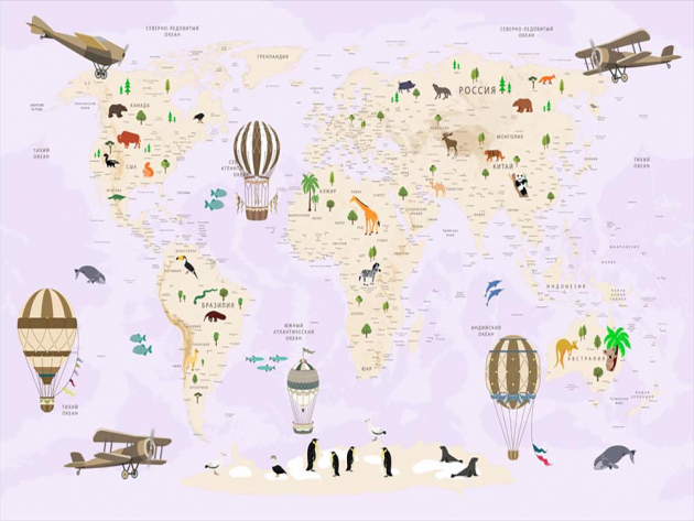 Детская карта мира