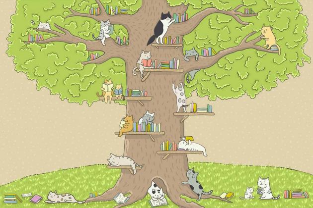 Библиотека на дереве