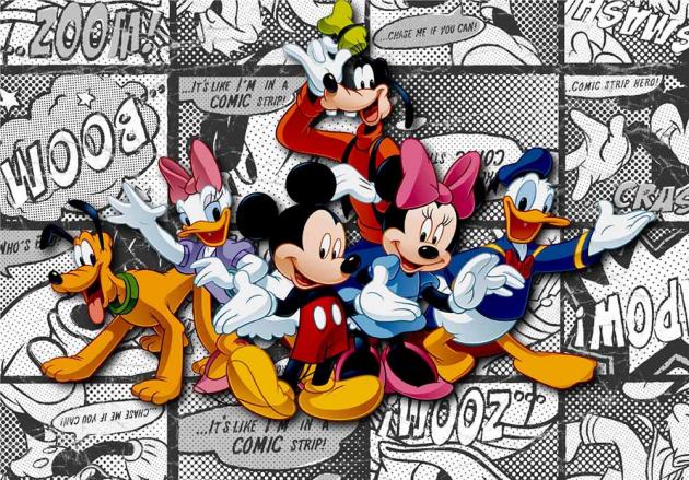 Комикс с Микки Маусом