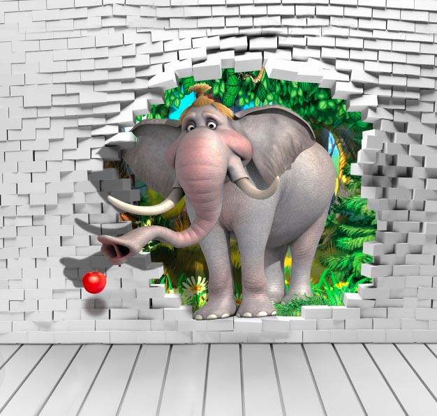 Слон и стена